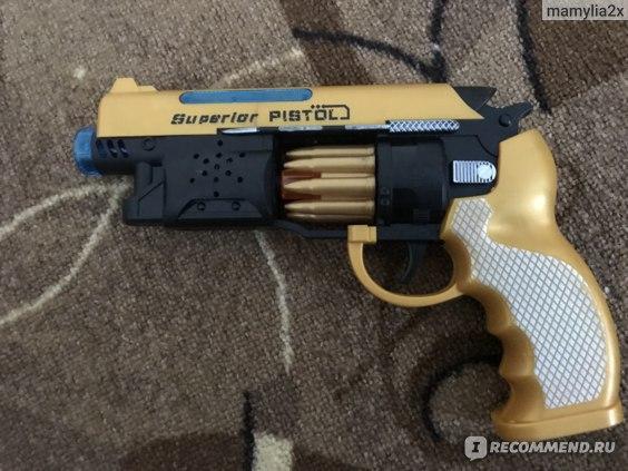 Игрушки Superlor pistol Пистолет с световыми и звуковыми эффектами  фото