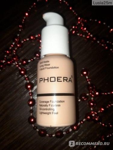 "Тональный крем Aliexpress ""PHOERA Soft Matte Long Wear Foundation Liquid Face Makeup Coverage Foundation Naturally Nude Makeup Oil-control Lightfeel Cream"" фото"