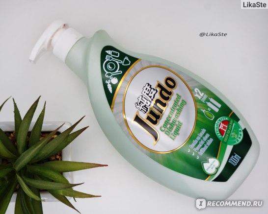 Гель для мытья посуды Green tea with mint Jundo