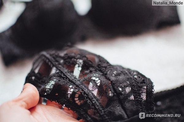 Комплект нижнего белья Aliexpress Ladies Sexy Charming Lace Traction Chain Half Cup Bra Necklace Bra Panties Garter Belt Stockings 4 pieces/lot фото