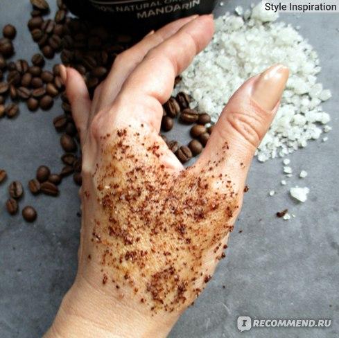 Скраб для тела RICHE Coffee Bean Scrub Mandarin Нанесение