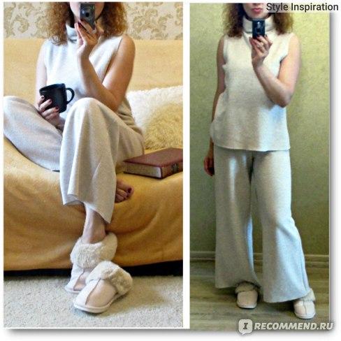 Домашние тапочки Aliexpress Luxury Faux Suede Home Women Full Fur Slippers Winter Warm Plush Bedroom Non-slip Couples Shoes Indoor Ladies Furry Slippers фото