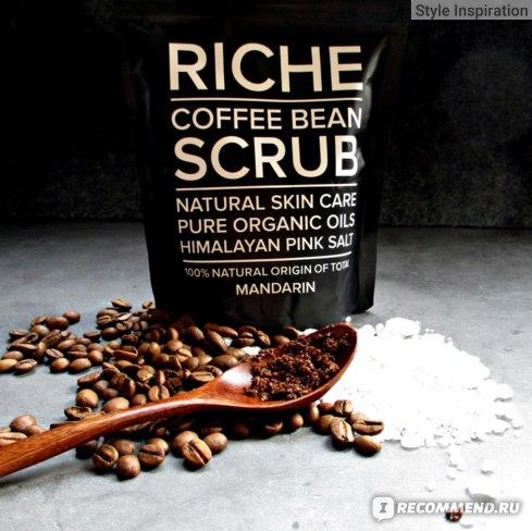 Скраб для тела RICHE Coffee Bean Scrub Mandarin Упаковка