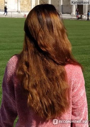 Цвет волос до окрашивания, на солнце он рыжее, чем в живую