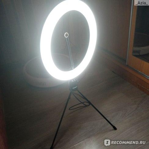 Лампа кольцевая светодиоидная Aliexpress Travor 10 inch LED ring lamp Dimmable LED Light Desktop LED Lamp 3 Light Modes Temperature 3000K-5000K LED ring light for makeup фото