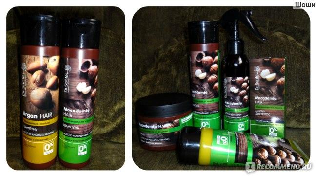 """Шампунь Dr.Sante Macadamia Hair. """"Восстановление и Защита"""". С маслом макадамии и кератином фото"""