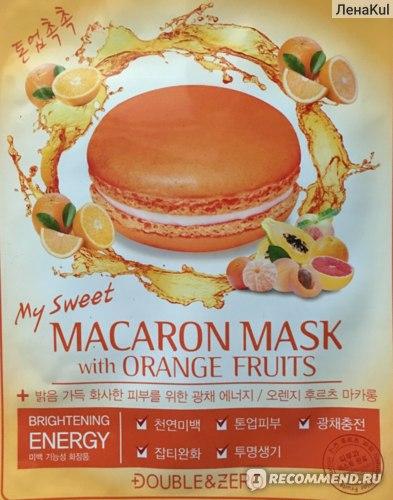 Маска для лица DOUBLE & ZERO MY SWEET MACARON для сияния кожи  фото