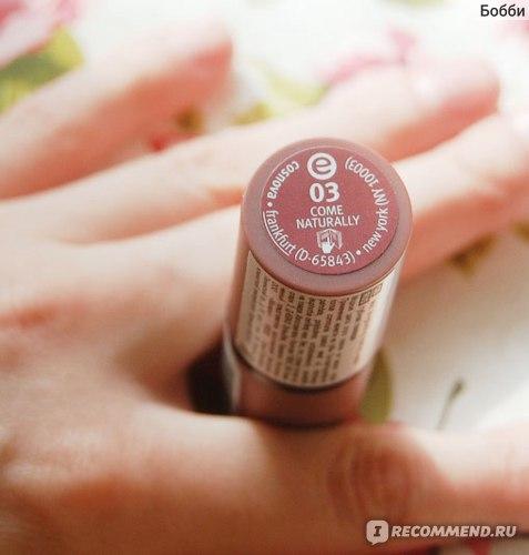 Губная помада Essence Longlasting lipstick nude фото