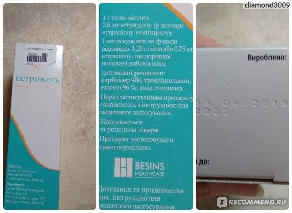 Гормональные препараты  Эстрожель гель фото