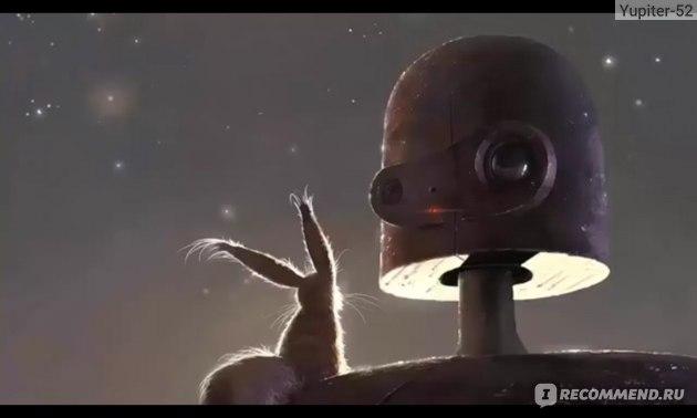 _ Белколис на плече у робота _