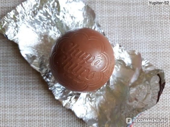 "_ Шар ""Chupa Chups"" из молочного шоколада, содержащий игрушку-сюрприз серии ""ТРОЛЛИ. МИРОВОЙ ТУР"" _"