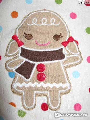 Кофта Gymboree Dot Button Gingerbread Girl Tee фото