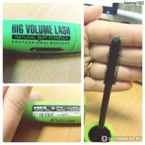 Тушь для ресниц Eveline big volume lash Natural bio formula фото