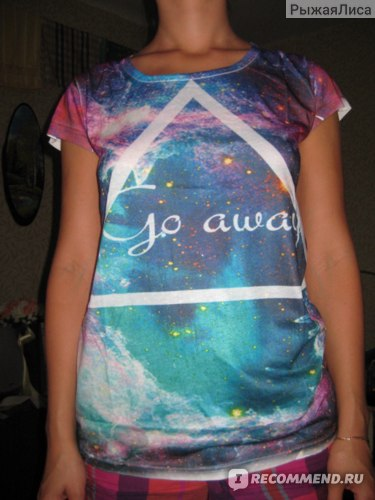Футболка AliExpress [Magic] New 2014 Spring and summer plus size loose batwing sleeve women's Casual Fashion digital t shirt all match Top Tee фото