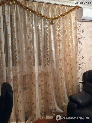 Тюль, 6 м ткани + пошив = 7 тысяч рублей.