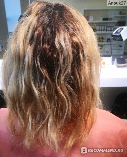 Волосы вымытые глубоко очищающим шампунем и высушены феном