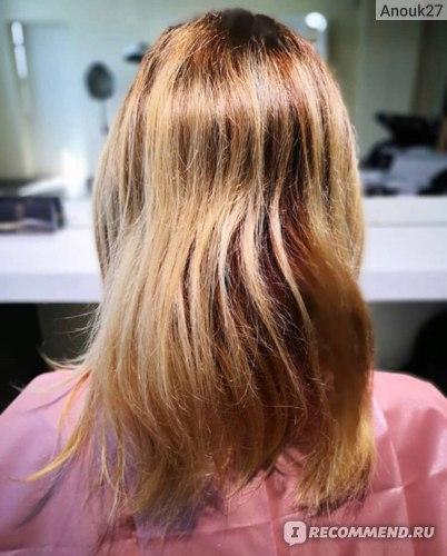 Через три месяца, волосы вымыты очищающим шампунем и высушены феном