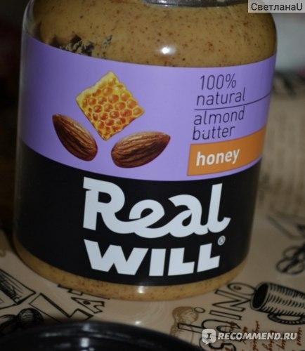 Миндальная паста Real will С мёдом