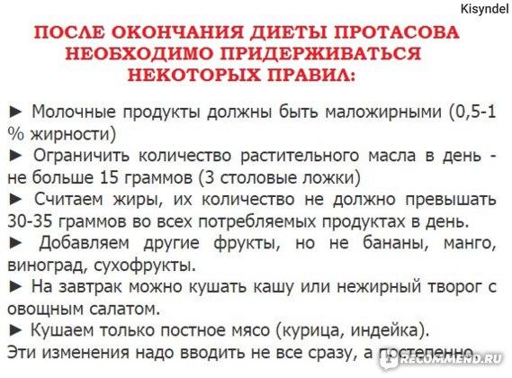 Диета кима протасова официальный