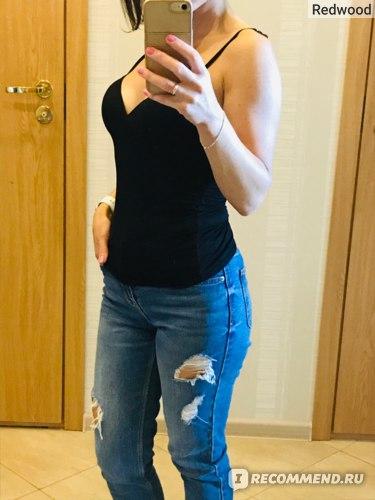 Топ  Aliexpress 2019 New Fashion Hot Sexy Women Padded Bra Spaghetti Strap Tops Camisole Push Up Bra Vest Tank Cami Sleeveless V Neck фото
