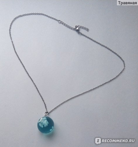Кулон Aliexpress Manual Resin Ball Crescent Moon Pendant Necklace Women Blue Sky White Cloud Necklace Fashion Jewelry Gifts for Girlfriend фото