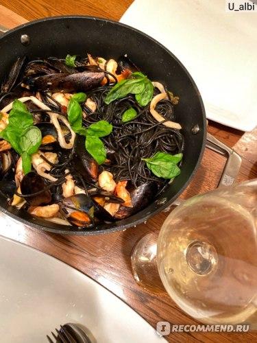 Макаронные изделия La molisana Спагетти с чернилами каракатицы фото
