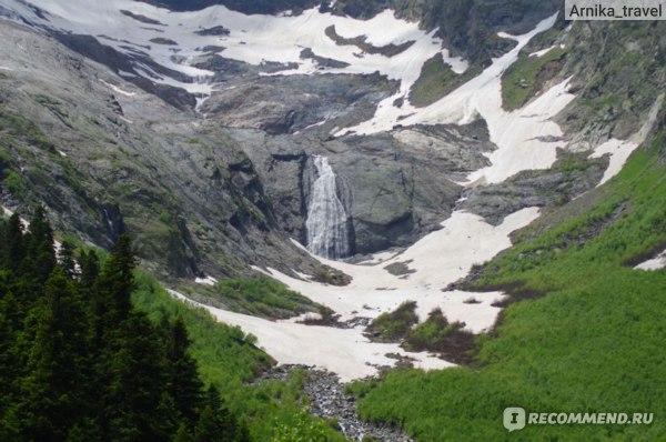 Где-то вдалеке видны водопады