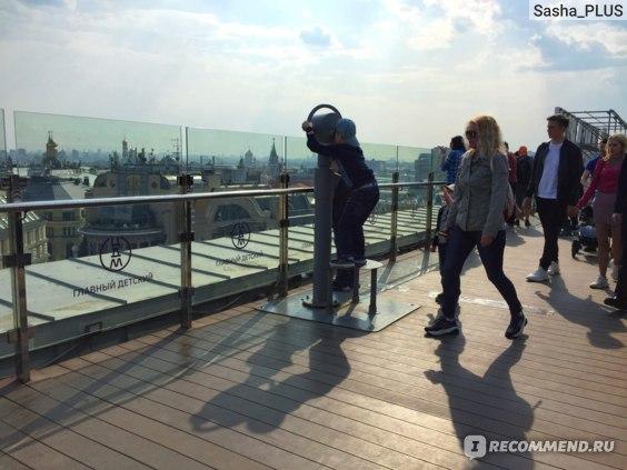 Смотровая площадка на крыше Центрального Детского Мира, Москва фото