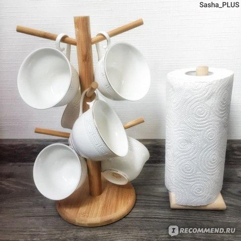 Стильный и функциональный бамбуковый держатель для чашек - вещь, которая может пригодиться не только на кухне!