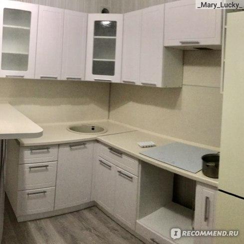 моя кухня с установленной панелью