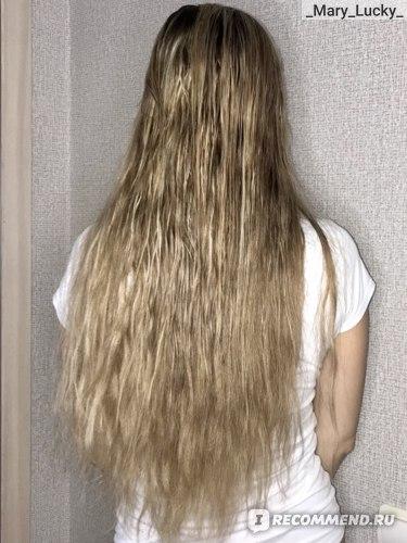 Волосы до использования масла RICHE Hair Oil Amla. Полусухие