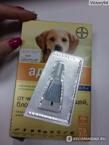 Противопаразитарные средства Bayer Капли на холку Адвокат для собак фото