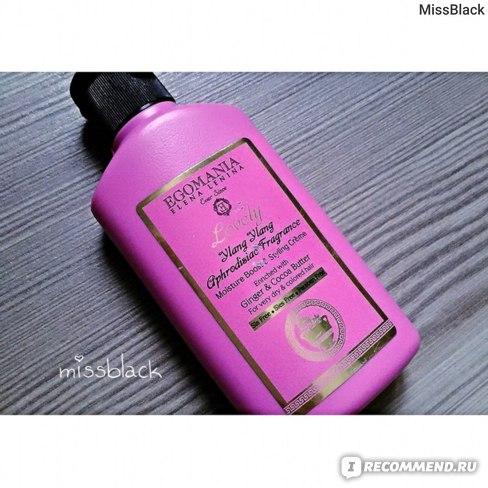 Увлажняющий крем для волос Egomania Для объема и укладки с имбирем и маслом какао фото