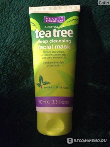 Маска для лица Beauty Formulas Tea Tree Deep Cleansing Facial Mask фото