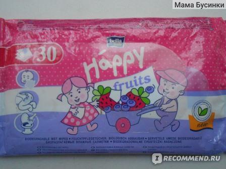 Влажные салфетки Bella Happy fruits фото