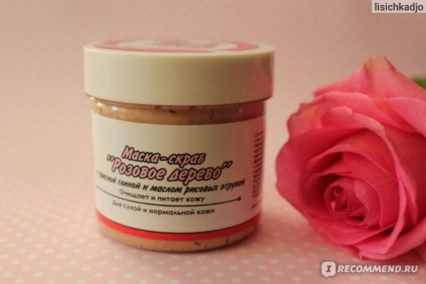 Маска-скраб Meela Meelo Розовое дерево для нормальной и сухой кожи фото