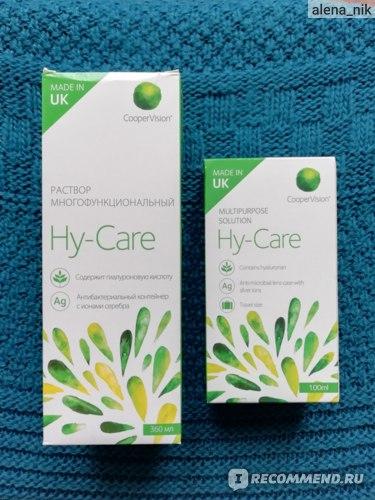 Раствор для контактных линз Cooper Vision Многофункциональный Hy-Care фото