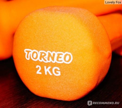 Гантели Torneo А-929Р с неопреновым покрытием фото