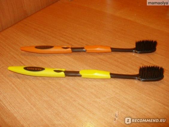 Зубная щетка Aliexpress Gingiva Care Soft Bristles Korea NANO Anion bamboo Charcoal toothbush dual adult toothbrush as Oral care product. фото