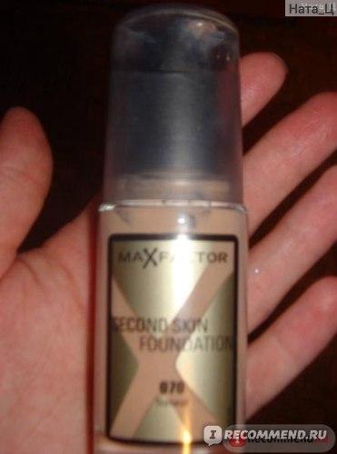 Тональный крем Max Factor Second Skin фото