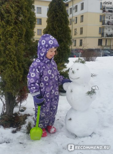 И в снег...