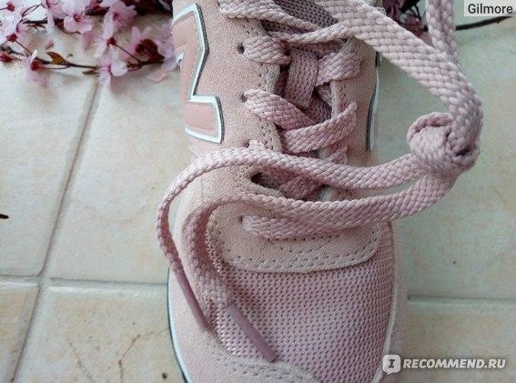 Кроссовки New Balance WL 574  UNC цвет 999, толстые и прочные  шнурки