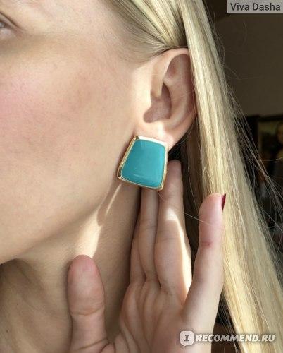 Серьги Aliexpress 2019 5 Colors Enamel Enamel Stud Earrings for Women Black / White Korean Style Earrings фото