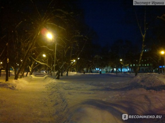 зимний сквер уральских добровольцев