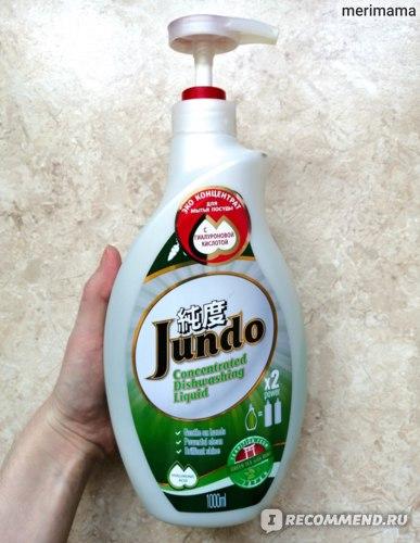 Гель для мытья посуды Jundo Green tea with Mint с гиалуроновой кислотой концентрированный