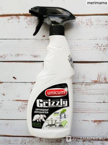 Средство для удаления жиров Unicum Grizzly для плит, духовок и посуды