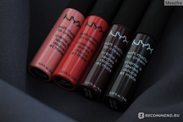 Жидкая губная помада NYX Professional Makeup Soft Matte Lip Cream фото