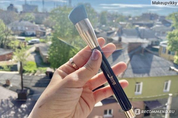 Набор кистей для макияжа Aliexpress Jessup Foundation Makeup Brush Set 15 Pcs Blue / Purple Powder Eyeshadow Eyeliner Contour Brush фото