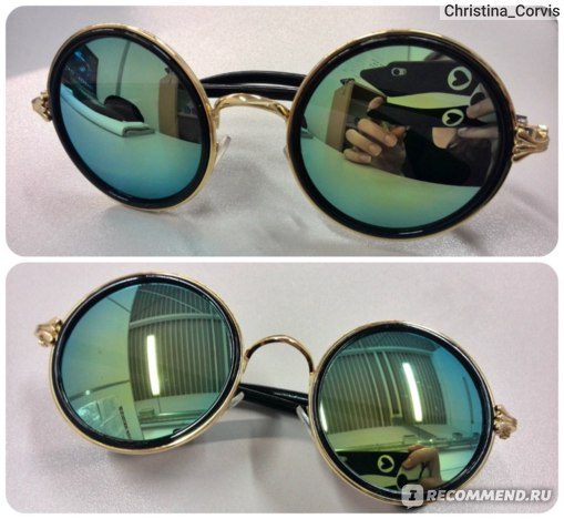 Солнцезащитные очки Aliexpress Fashion Vintage Round Women Sunglasses Metal Frame Lens Love фото
