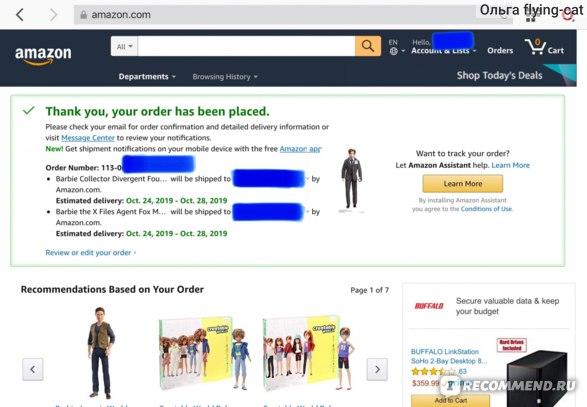 Сайт Amazon.com фото